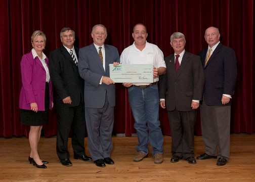 Getting a really big Local Parks and Recreation Fund Grant check for Leeper Lane Park