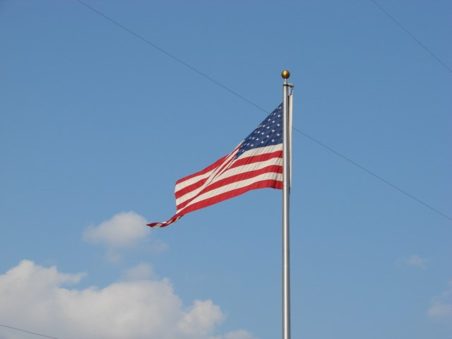 Flag on Blue Sky