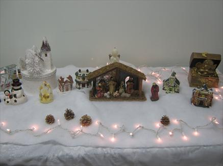 Christmas scene on a table